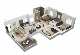Sample Floor Plan For House 25 More 3 Bedroom 3d Floor Plans Architecture U0026 Design