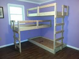Triple Deck Bed Designs Appealing Diy Triple Bunk Beds Plans Photo Design Ideas Amys Office