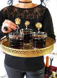 diy halloween skulls drinks stirrers party ideas party printables
