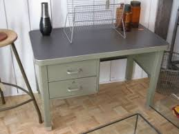 Small Steel Desk German Steel Desk Pigeon Vintage Furniture