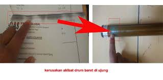 Mesin Fotokopi Rusak jenis kerusakan pada drum mesin fotocopy pesan copy