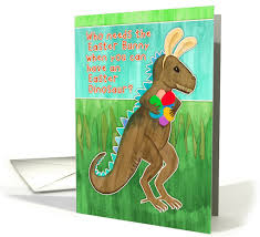 dinosaur easter eggs easter card for grandson dinosaur with bunny ears eggs 1257556