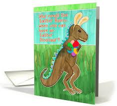 dinosaur easter eggs easter card for grandson dinosaur with bunny ears eggs 1257556