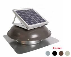 solar panel mounted on dome multiple colors