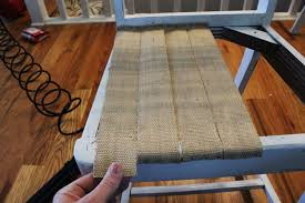Rubber Upholstery Webbing Diy Jute Chair Seat Give An Old Chair New Purpose