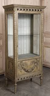 antique italian neoclassical painted and gilded vitrine at 1stdibs