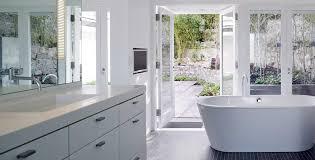 Modern White Bathroom - kitchen design and custom cabinetry showroom