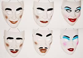 mardi gras classic transparent mask plastic halloween costume
