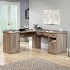 l shaped computer desk with hutch sauder barrister lane l shaped desk the sauder barrister lane l