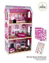decorating awesome kidkraft dollhouse in white theme with triple
