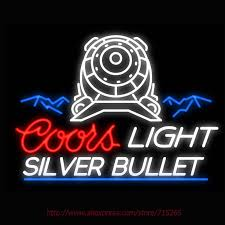 vintage coors light neon sign neon sign coors light the silver bullet real glass tube vintage