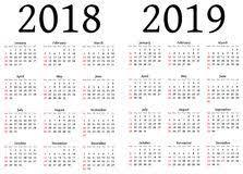 Kalender 2018 Helgdagar Kalender 2018 Vektor Illustrationer Bild 42323201