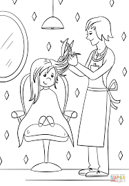 hairdresser coloring page free printable coloring pages