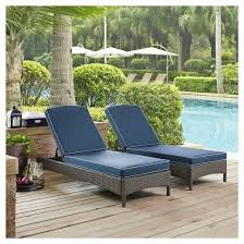 Palm Harbor Patio Furniture Palm Harbor Outdoor Wicker Chaise Lounge Weathered Gray