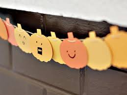 how to make a paint chip pumpkin garland hgtv