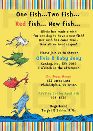 dr seuss new fish baby shower invitation dr seuss shower