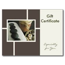6 best images of massage gift certificate template printable