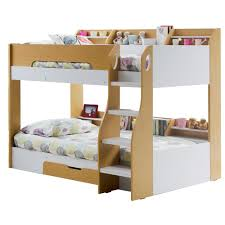 Kids Beds With Desk by Kids Flick Bunk Bed In Maple With Storage Cuckooland Kids Beds