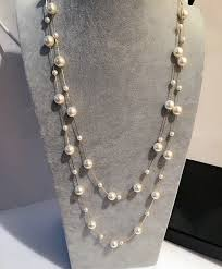 long necklace pearl images Double layers simulated pearl jewelry long necklace women classic jpg