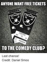 Raiders Meme - anyone want free tickets beserted raiders raiders 347 13 10 13 seat9