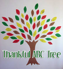 Fun Activities For Thanksgiving The U201cthankful Abc Tree U201d Craft Is A Fun Activity That Can Be Worked