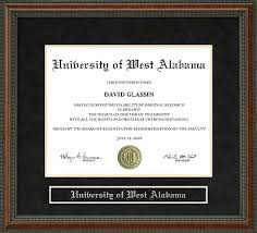 of alabama diploma frame of west alabama uwa diploma frame everything