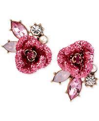 glitter stud earrings betsey johnson gold tone glitter mismatch stud earrings