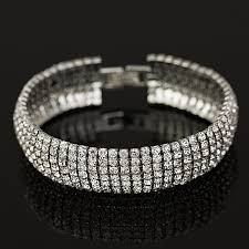 bracelet luxury crystal images Luxury crystal gold and silver plated link bracelet katha jewels jpg