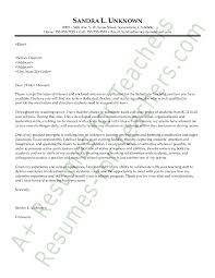 cover letter example of a teacher resume httpwwwresumecareer