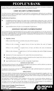 lexus security jobs chief security superintendent assistant security superintendent
