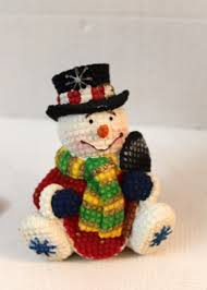 snowman christmas figurine collectible seasonal home decor