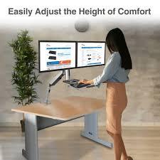 standing desk converter with height adjustable keyboard
