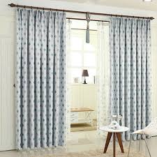 Baby Blue Curtains Blackout Insulated Living Room Ready Made Geometric Baby Blue Curtains