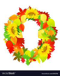 autumn wreath autumn wreath royalty free vector image vectorstock