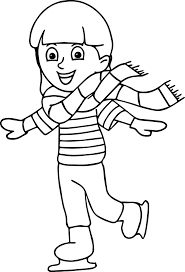 winter sport ice skating coloring page wecoloringpage