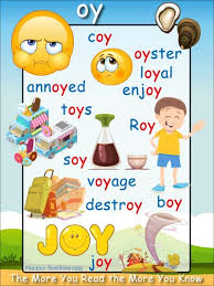 oy words phonics poster oy word list download free