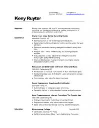 audio engineer resume sample audio recording engineer sample