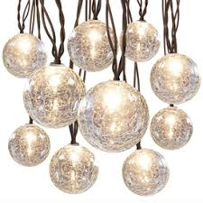 Clear Patio String Lights Lowe S 27 For 10 Lights Gemmy 8 6 Ft Clear Mini Bulb Crackle Patio