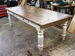 white scrubbed pine farmhouse table i love the look of a sturdy