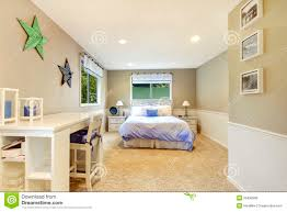 Blue And Beige Bedrooms by White And Beige Bedroom Interior With Blue Bed Royalty Free Stock