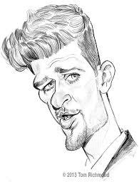 sketch o u0027the week robin thicke caricature madness pinterest