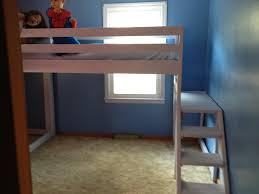 Diy Bed Platform Ana White Camp Loft Bed With Stair Junior Height Diy Projects Of