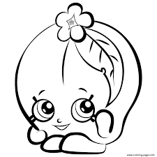 fruit peachy shopkins season 3 coloring pages printable