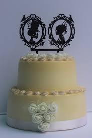 Halloween Wedding Cake by Acrylic Halloween Wedding Cake Decoration Skeleton Silhouette