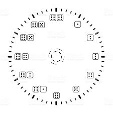 simple minimal clock design dial plate vector illustration on