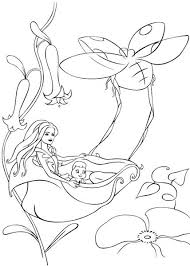 barbie thumbelina coloring pages barbie fairytopia coloring pages