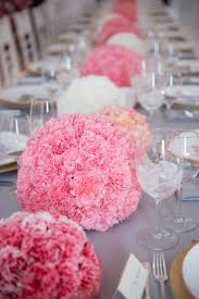 Carnation Flower Ball Centerpiece by Pink And White Carnation Sphere Centerpieces U2013 Shared In The Style