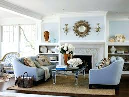 new home coastal living room with pale blue walls u2013 living rooms