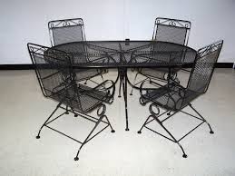 Aluminium Patio Furniture Sets Impressive Black Wrought Iron Patio Furniture With Metal Patio