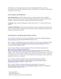 Resume For Work Resume For Work In Predictive Analytics